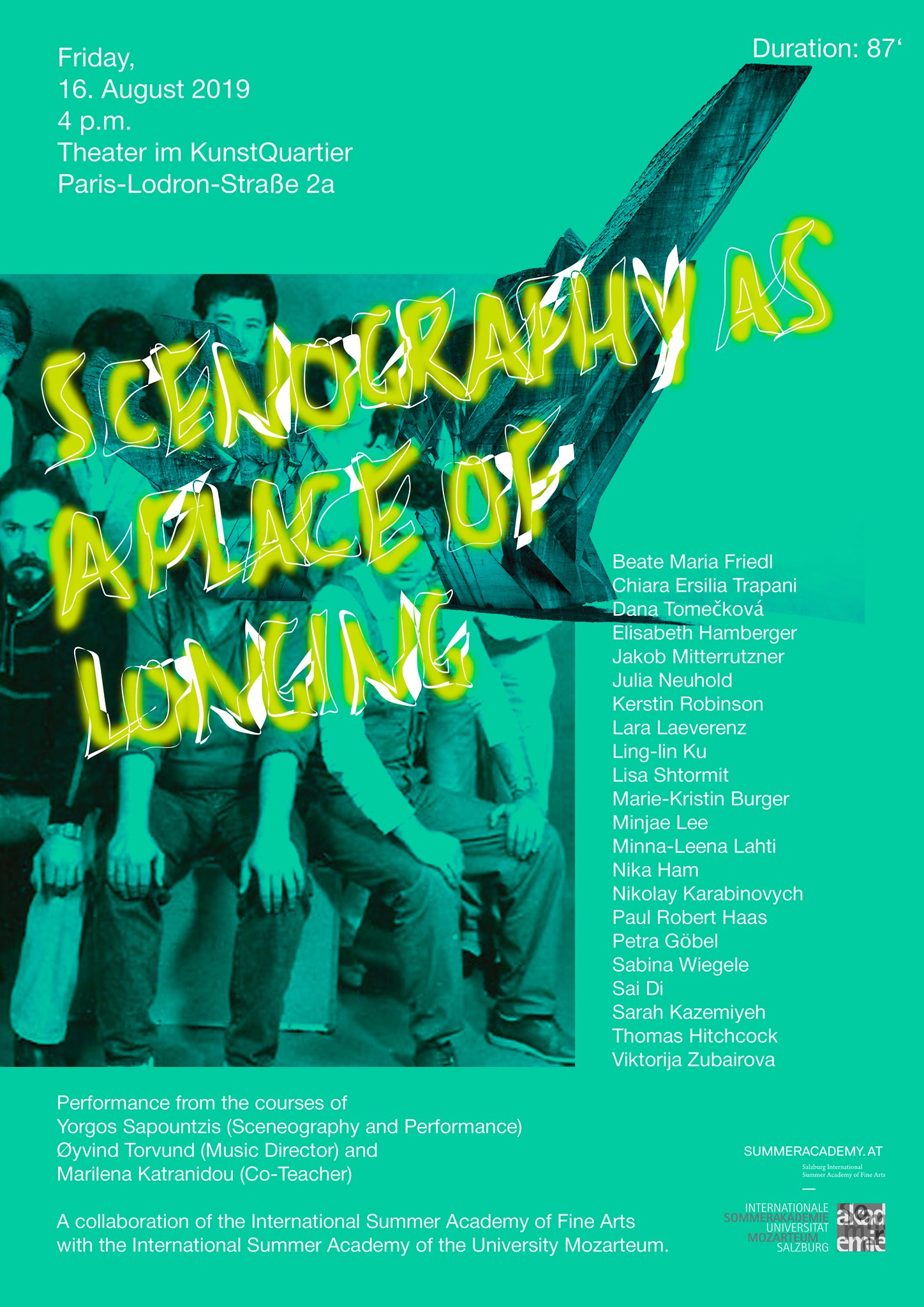 Performance I Scenography as a place of longing